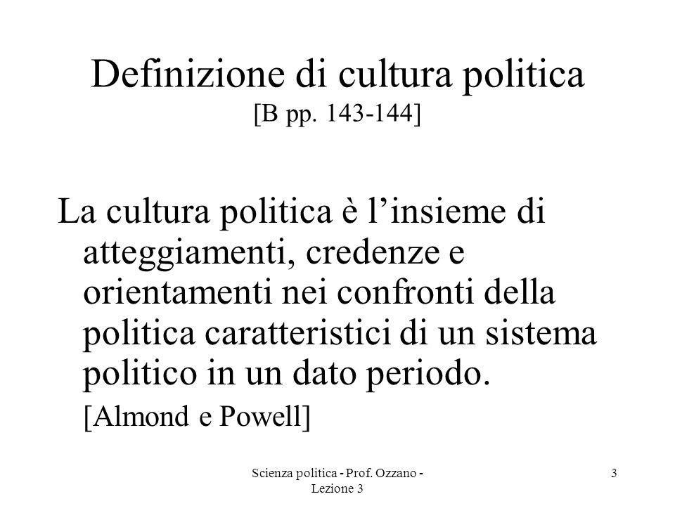 Definizione di cultura politica [B pp. 143-144]